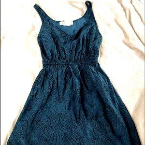 UO Staring @ Stars Turquoise Sleeveless XS Dress